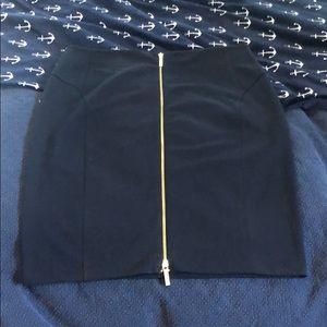 Michael Kors navy pencil skirt w/ gold zipper